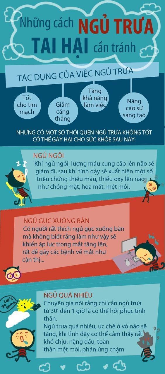 Những kiểu ngủ trưa gây hại cho sức khỏe cần tránh