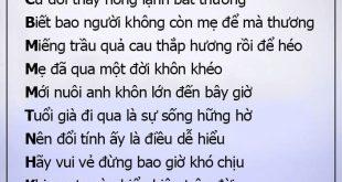 Bài thơ Đừng giận mẹ thật xúc động